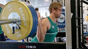 Ireland Squad Gym Session At St. George's Park, Burton On Trent, Tuesday, September 22, 2015