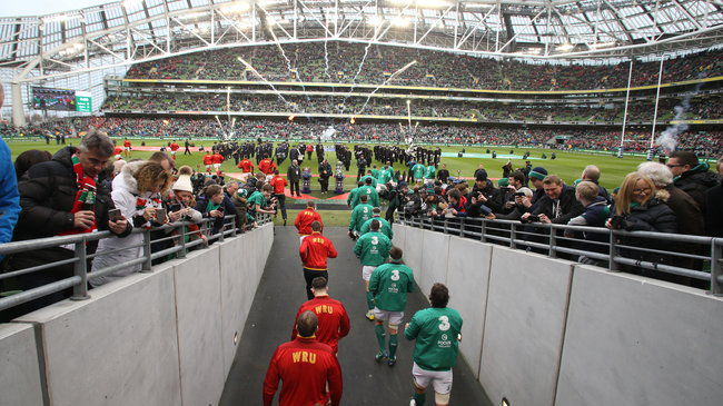 Irish Rugby TV: Ireland v Wales Aviva Tunnel Cam
