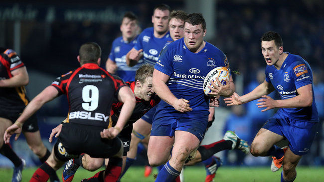 Jack McGrath powers forward for Leinster