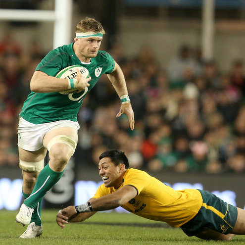 Jamie Heaslip in action for Ireland