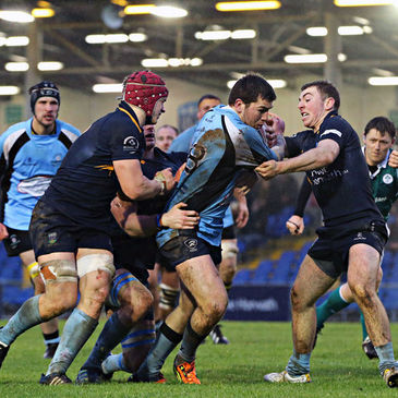 Matt Dever on the attack for Galwegians