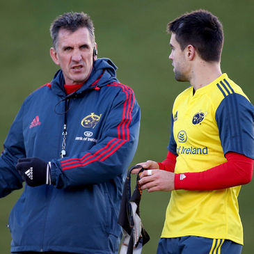 Munster's Rob Penney and Conor Murray