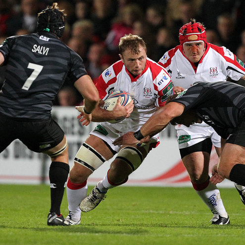 Roger Wilson in action against Leicester Tigers