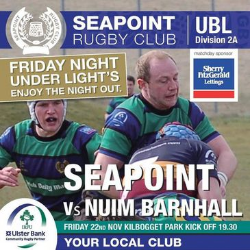 Seapoint host NUIM Barnhall in the Ulster Bank League