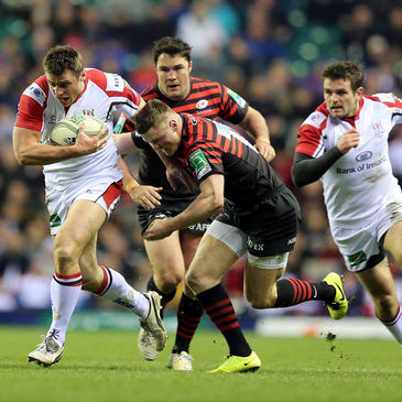 Ulster's Tommy Bowe in action against Saracens