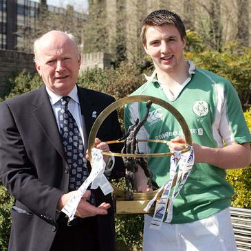 Kingspan Commercial Director Philip Brown with Ireland U-19 captain Paul Ryan