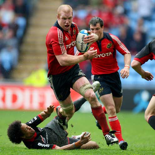 Paul O'Connell on the charge against Saracens