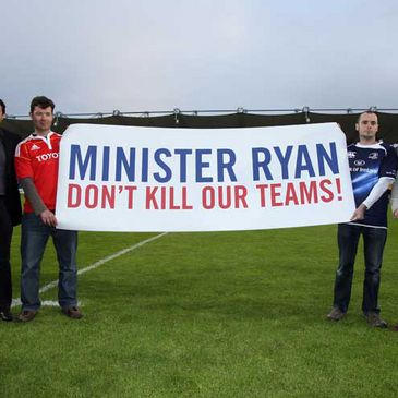 Supporters at the RDS getting their message across