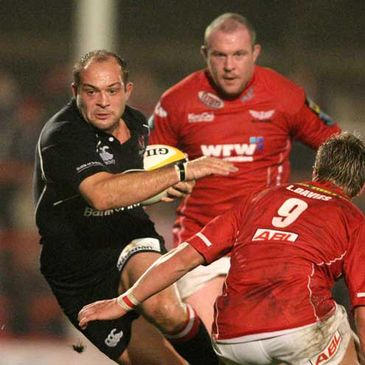 Ulster captain Rory Best in action against Llanelli