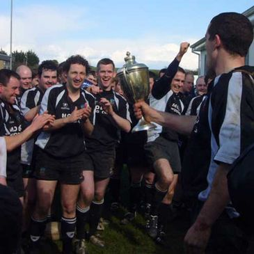 Scariff celebrate their Gleeson Cup final win