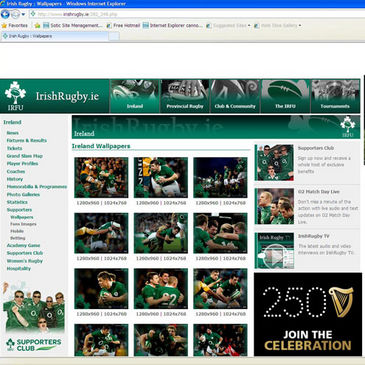 The new wallpapers on IrishRugby.ie