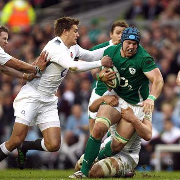 Sean O'Brien in action against England