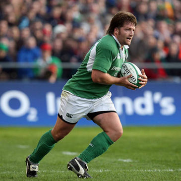 Shane Byrne in action for Ireland