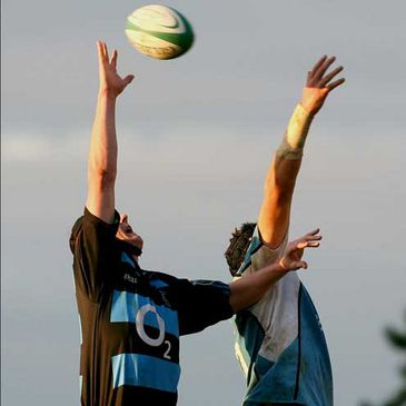 Shannon's Fergal Walsh and Garryowen captain Paul Neville compete for lineout possession
