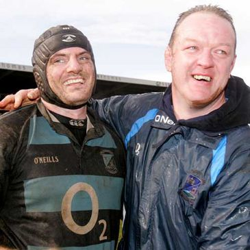 Shannon's Padraic O'Brien and Mick Galwey after their recent AIB Cup final win