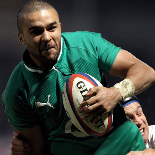 Uncapped winger Simon Zebo