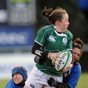 Sinead Ryan in action for Ireland against Italy