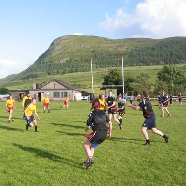 Tag rugby action at Sligo RFC
