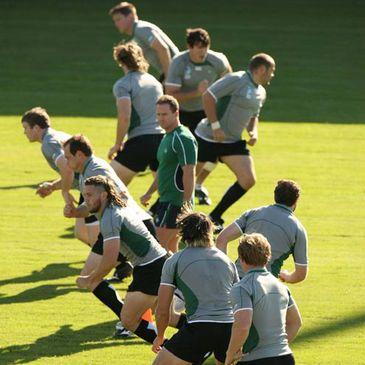 The Irish players training in Bordeaux