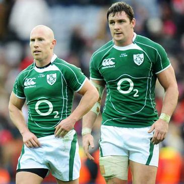 Ireland's Peter Stringer and David Wallace