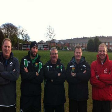 The coaches from Sullivan Upper School with Jonny Dixon and Chris Shields