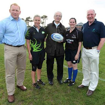 John Treacy brushed up on his Tag rugby skills
