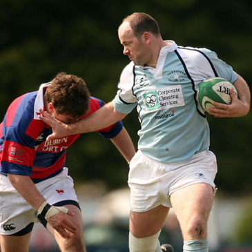 Garryowen's Conor Kilroy tries to outpace Marc Hewitt of Clontarf