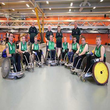 The Ireland Wheelchair Rugby team
