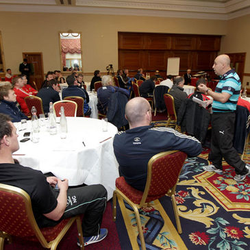 IRFU Technical Director Steve Aboud at the Conference this week