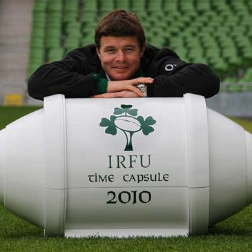 Brian O'Driscoll launches the Irish Rugby Time Capsule