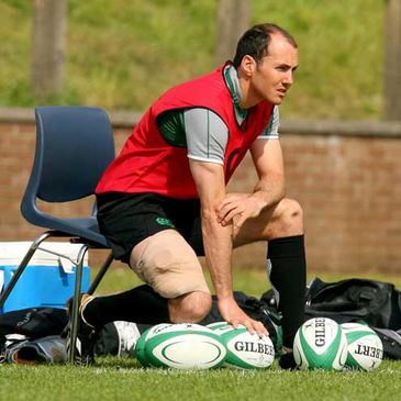Girvan Dempsey sat out part of Tuesday's training session at UL