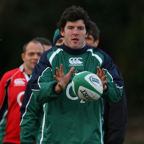 Shane Horgan in training