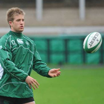 Luke Fitzgerald training at Kingsholm on Monday
