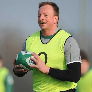 Mick O'Driscoll training with the Ireland squad