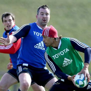 Action from a Munster training session at UL