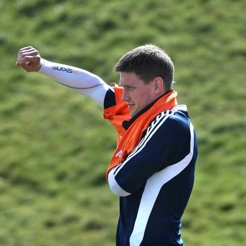 Ronan O'Gara at a Munster training session