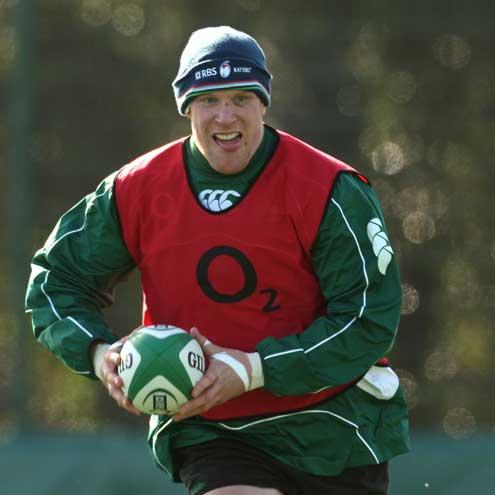 Paul O'Connell pictured training recently with Ireland