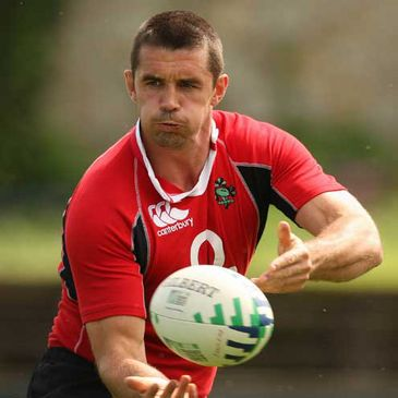 Alan Quinlan in action at an Irish training session