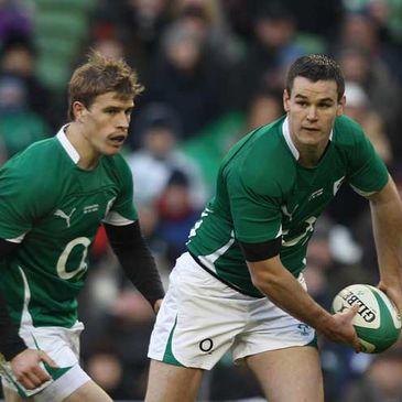 Ireland's Andrew Trimble and Jonathan Sexton