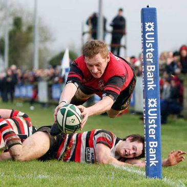 Tullamore v Enniscorthy in the final of the Ulster Bank All-Ireland Junior Cup
