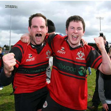 Tullamore celebrate winning the Junior Cup