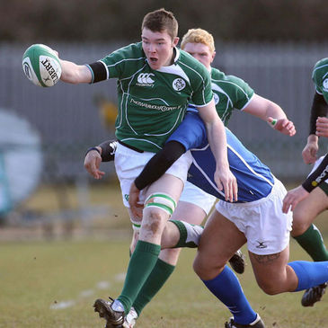 Ireland Under-19 captain Peter O'Mahoney in action against Italy
