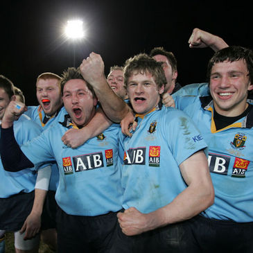 UCD celebrate winning the annual Colours match against Dublin University