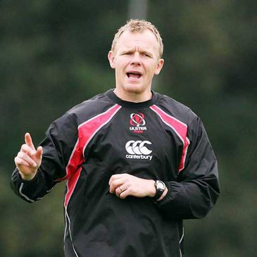 Ulster coach Mark McCall at training