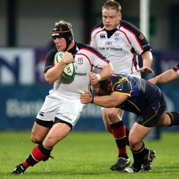 Action from Ulster's pre-season friendly against Leeds Carnegie