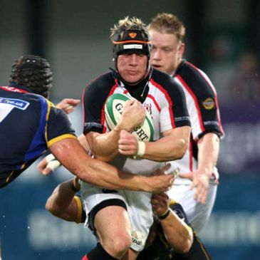 Neil McMillan in action for Ulster
