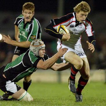 Ulster's Andrew Trimble on the attack against Connacht last season