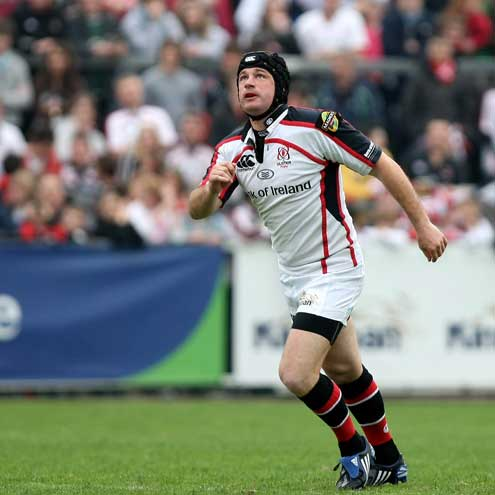Ulster's retiring out-half David Humphreys watches the flight of the ball
