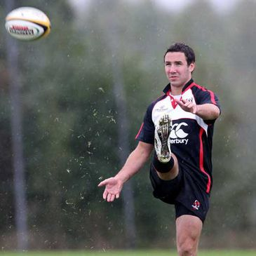 Ulster's Paddy Wallace practising his kicking