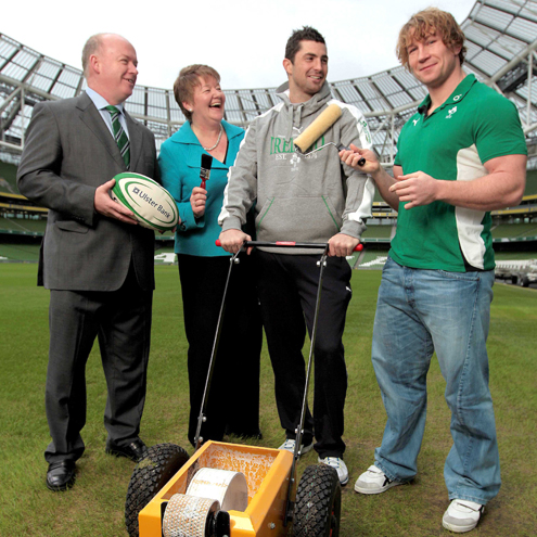 Photos of the launch of Ulster Bank and the IRFU's Community Rugby Partnership